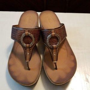 Wedge sandals gently worn